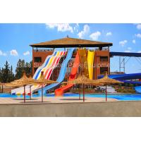 Buy cheap Customized Combination Open Rainbow Super Bowl Fiberglass Water Slide Spiral from wholesalers