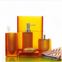 Quality new design resin bathroom accessories sets for sale