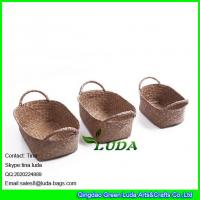 Quality LUDA household decorative storage boxes wholesale sea grass straw basket for sale