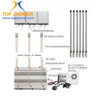 6 Antennas 90W High Power Desktop Jammer Panel ANT Blocker 3G 4G LTE UHF VHF
