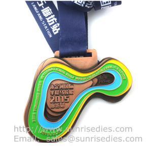 Quality Metal sport medal factory China, enamel metal medallion manufacturer directly for sale