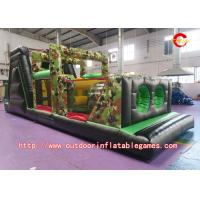 Buy cheap Commercial Giant Adult Inflatable Obstacle Course With 0.55mm PVC Tarpaulin Material from wholesalers