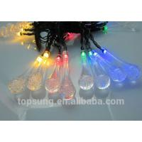 Quality 5m 20leds solar led water-drop light for christmas decoration for sale