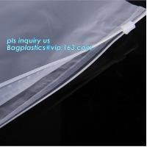 Quality PP Flat Slider Zipper for PP Zipper Bag, Cloth package PE slider zip bag, Apparel Garment Clothing package PE slider zip for sale