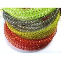Quality PET Mylar Braided Wire Mesh Sleeve for Lights And Gifts Decoration for sale