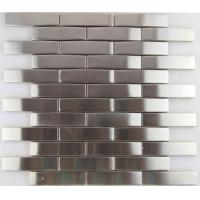 China 3d Arch Stainless Steel Mosaic Tile Backsplash , Stainless Steel Kitchen Tiles 8mm Thick on sale