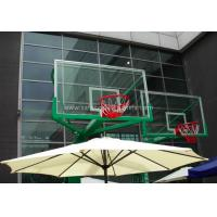 Quality Replacement Curved Sheet Basketball Goal Glass Backboard 8mm / 10mm , Light Blue for sale