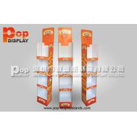 Quality Custom OEM  Corrugated Cardboard Display Stand 4 Tiers Light Duty Stand for sale
