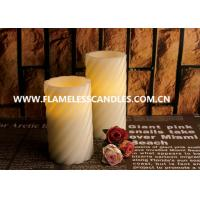 Best Swirl Pattern LED Flameless Pillar Candles With Straight Edge for Christmas Decoration wholesale
