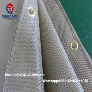 Quality Fireproof Tarpaulin PVC Mesh Sheet Logo Printed PVC Fireproof Mesh Sheet For Construction for sale