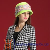 China Eco - friendly Light Green Wool felt Ladies Church Hats for winter on sale
