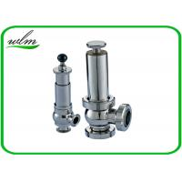 China Intelligent Sanitary Pressure Relief Valve For Pipeline System Protection on sale
