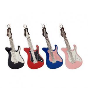 Quality Creative Designer Metal USB Flash Drive Guitar Shape With Hard Enamel Coloring for sale