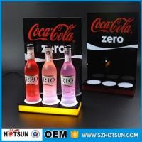 Acrylic Led wine bottle display,Led liquor bottle display shelf