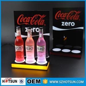 Acrylic Led wine bottle display,Led liquor bottle display shelf