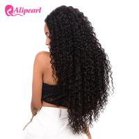 Quality Deep Wave Full Lace Human Hair Wigs For Black Women Remy Hair 8A Grade for sale