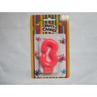 Best Pink NO Three Number Birthday Candles 19.3g Glittering Paraffin Wax For Party wholesale