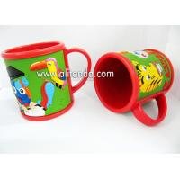 Quality Eco-friendly whale sea animal image design custom soft pvc 3D embossed silicone mug for children for sale