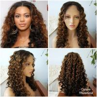 Quality New arrival curly peruvian human hair front lace human hair wigs for sale