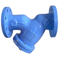 Quality DN600 GGG40 Flanged Y Strainer With Stainless Steel Screen for sale