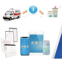 China First Aid FDA Approved White Smart 12-lead ECG Wirelessly with iPad ECG Machine for sale