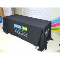 Best Trade Show Customized Size Stretch Fabric Table Cover Dye Sublimation Printing wholesale