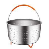 Buy cheap 304 Stainless Steel Vegetable Steamer Basket For Pressure Cooker With Removable from wholesalers