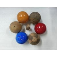 Quality Natural Veined Solid Wood Balls Plain 60 mm For Home Decoration for sale