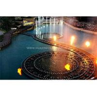 Quality Modern Art Fire Water Fountain , Large Amazing Musical Water Fountain Project for sale