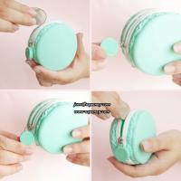 China Promotion gift macarons silicone purse wallet with zipper on sale