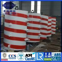 Quality Foam Filled Steel structured offshore mooring buoy, Yellow Painted steel structure Mooring Buoy for sale
