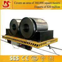 Quality Industrial Rail Mounted Coil Transfer Trailer For Carrying Rolled Steel for sale