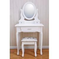 Quality Best Selling Wooden makeup vanity dressing table Vanity table Cushioned Stool for sale