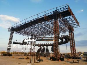 Quality TUV Long Span LED Ball Heavy Duty Truss 85 Ton Loading Capacity Steel Truss Structure for sale