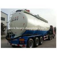 Quality Stainless Steel / Aluminum 40cbm to 70cbm Tri axle cement tank trailer with 2 tool boxes for sale