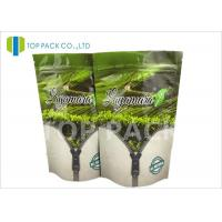 Best Gravure Printed Flat Foil Stand Up Bags , tea packaging pouch Zip Lock Closure wholesale