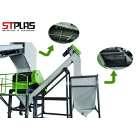 China Large Plastic Washing Recycling Machine For Waste Pet Bottles 500-3000kg/H for sale