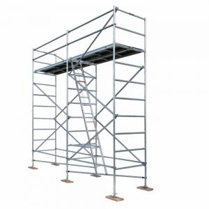 Quality Cuplock Aluminium Mobile Scaffold  H Frame Ladder Scaffolding System for sale
