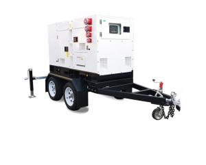 Quality Dual Axle 500KVA Silent Diesel Generator Trailer For Industry Mine for sale