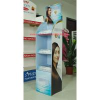 Best Promotional corrugated floor displays for Shampoo , Haircare store display racks supermarket wholesale
