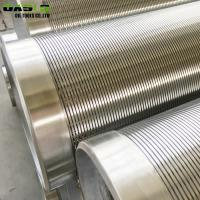 Buy cheap Reinforced LCG V Wire Screen , Rod Based Water / Oil Well Sand Screen from wholesalers