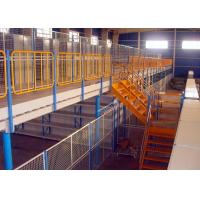 Quality H Beams Round Pipes Structural Mezzanine Warehouse Storage Racks 1000 Kg Per Sqm for sale