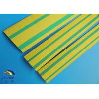 Best electrical insulation tube PE/PVC heat shrink tube green / yellow double color wholesale