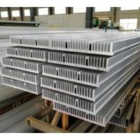 Buy cheap Large size silver anodized extruded aluminum heatsink profile for industrial from wholesalers