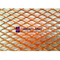 Quality Small Hole Raised Copper Expanded Metal Mesh Diamond Hole In Rolls for sale