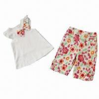 Buy cheap Baby Clothing Set, Made of 100% Cotton, Ideal for Summer from wholesalers
