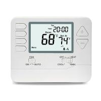 China 24V Digital Room Heat Pump Thermostat With Large Digital Display Dual Powered on sale