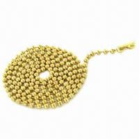 Quality 24-inch/2.4mm Wide Steel Ball Chain with Ball Chain Connector for sale