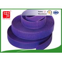 Purple strong velcro adhesive tape hook and loop tape roll for garments