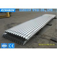 China Custom 825mm Waved Galvanized Steel Plate For Roof / Wall Decoration on sale